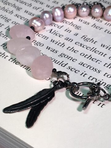 molly bracelet with rose quartz