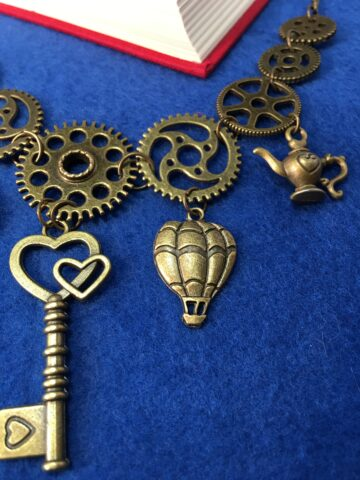 cog charm necklace key