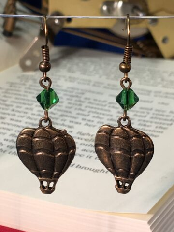 hot air balloon earrings