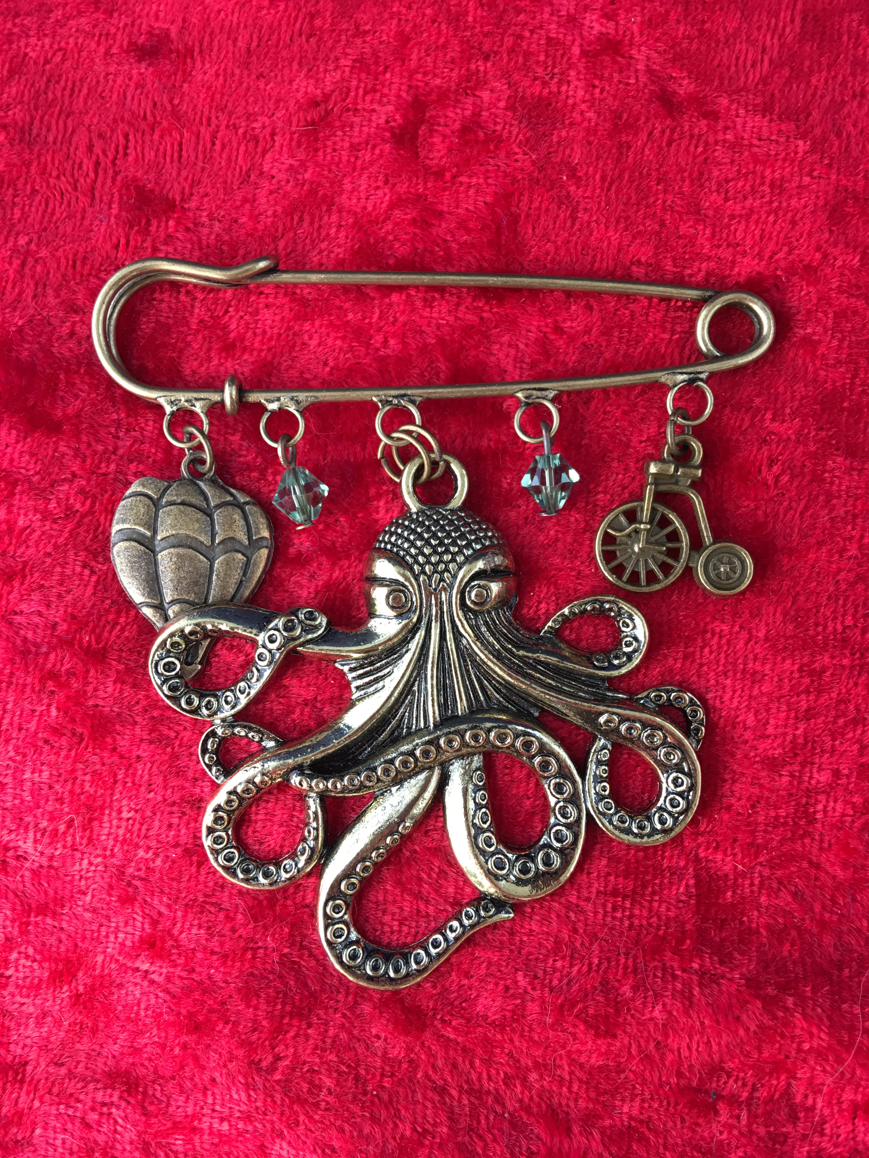 kilt pin brooch large kraken
