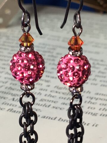 natasha earrings pink