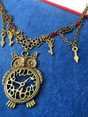 owl and key necklace