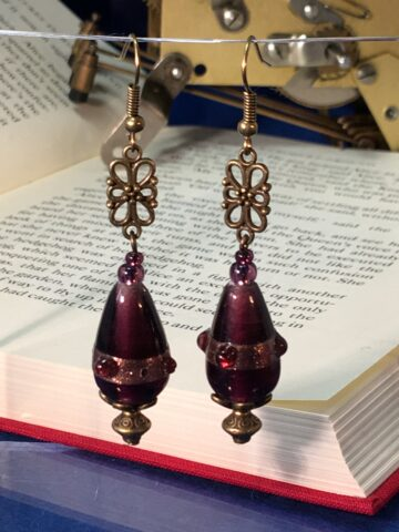 victoria earrings purple